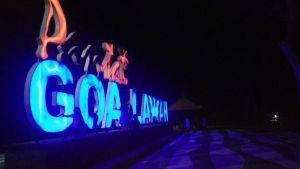 Lampu Huruf A dan N di Pantai Goa Lawah Padam