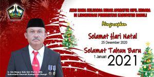 Aperatur Sipil Negara Kabupaten Bangli Mengucapkan Selamat Natal dan Tahun Baru 2021