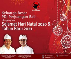 PDI Perjuangan Bali Mengucapkan Selamat Hari Natal dan Tahun Baru 2021