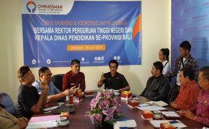 Cegah Praktik Siswa Titipan, ORI Undang Rektor dan Kadisdik Se Bali