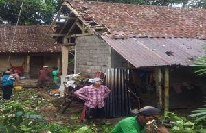 Pohon di Bangli Bertumbangan, Pekerja Proyek dan Rumah Tertimpa Pohon