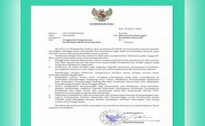 Gubernur Koster Surati Menhub Lakukan Pembatasan Warga Masuk Bali