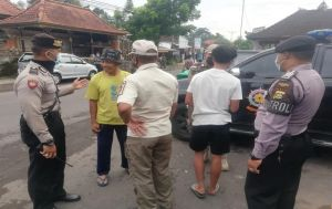 Keluar Rumah Tanpa Masker, Tiga Pelanggar di Bangli Diberi Teguran