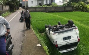 Angkut Warga Asing, Taksi Online Jumpalitan dan Mengangkang di Sawah
