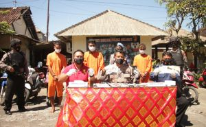 Pencuri Motor dan Penadah Jaringan Gianyar-Denpasar Diringkus Polisi