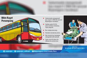 Mengemudi Bus, Sopir Meninggal Mendadak