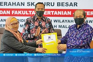 UMM Tambah Dua Guru Besar Baru Bidang Pangan dan Logistik