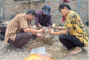 Gali Proyek, Warga Temukan Fosil Hewan Puraba di Kedalaman 170 Cm