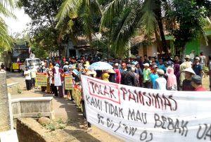 Meski Ditentang Warga, Pembangunan Pamsimas Tetap Dilanjutkan