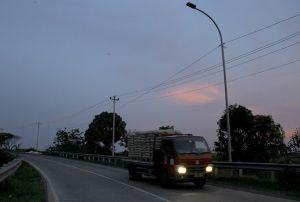 Rusak, 36 Lampu di Jalan Lingkar Utara Kudus Padam sudah Dua Pekan