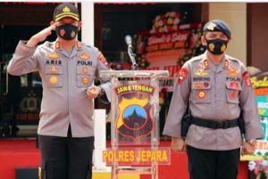 Meski Tongkat Komando Berganti, Polres Jepara Tetap Perangi Covid-19