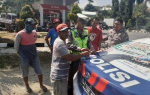 Terbukti Melanggar, Polisi Tilang Truk Pengangkut Sirtu