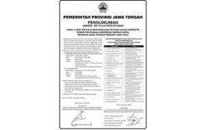 Hasil Ujian Tertulis dan Makalah Calon Anggota KPID Jateng 2020-2023
