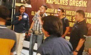 Pindah Tugas ke Polda Jatim, Kapolres Gresik Pamitan ke Wartawan