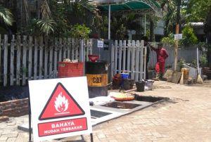 Semburan Minyak Kutisari, Sudah Dipasang Tandon Bawah Tanah