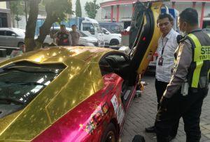 Lamborghini Terbakar Belum Bayar Pajak dan Nopol Tak Terdaftar