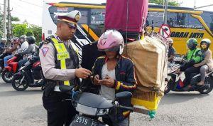 Operasi di Titik Rawan Laka, Tilang 120 Pelanggar