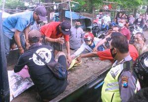Motor Tabrak Jembatan, Emak-Emak Tewas Tercebur Sungai Porong