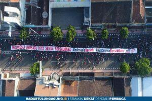 Gelar Jalan Sehat dan Deklarasi, Polres Blitar Kota Ajak Warga Bersatu