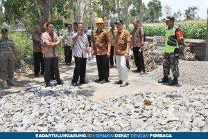 Bupati Tulungagung Sidak Pembangunan Infrastruktur dinas PUPR