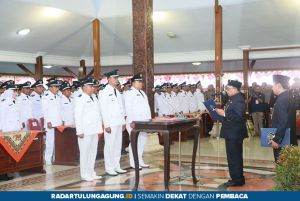 Bupati Blitar Pesan Empat Poin ke Kades Periode 2019-2025