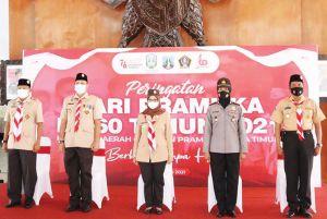 Hari Pramuka Ke-60 Kabupaten Blitar, Semangat Berbakti Meski Pandemi