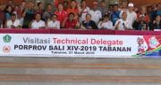 Pastikan Venues Porprov, Tabanan Dikunjungi Technical Delegate