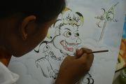 Baligrafi, Senyawa Aksara Bali dan Seni Rupa