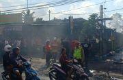 Warung Terbakar Akibat Gas Bocor, Dua Motor Ikut Ludes