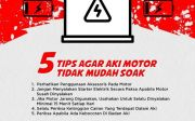 Lima langkah Supaya Aki Motor Tidak Mudah Soak