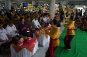 Rai Mantra Lantik Pengurus PWRI Denpasar di Pasar Badung