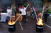 Polda Bali Musnahkan Barang Bukti Narkoba