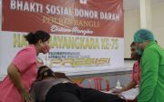 Sambut Hari Bhayangkara, Polres Bangli Gelar Donor Darah
