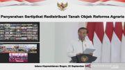 Presiden Jokowi Tegaskan Komitmen Berantas Mafia Tanah