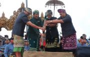 Bunyikan Lesung, Bupati Giri Resmi Buka Festival Budaya Pertanian ke 8