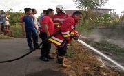 Akibat Putung Rokok, Alang-alang Lahan Kosong di Beringkit Terbakar
