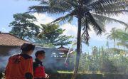Bakar Jenazah, Pohon Kelapa Ikut Terbakar, Warga Panik  Berhamburan
