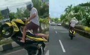 Duh, Polisi Kehilangan Jejak Bule Pelaku Free Style di Jalan Raya