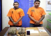 Baru Bebas Karena Corona, Dua Residivis Dibekuk saat Ambil Ganja 2 Kg