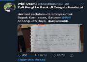 Viral! Kisah Nasabah Difable ke Bank BNI Saat Pandemi Covid-19