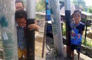 Niat Potong Tiang, Lolos Setelah Baluri Kepala Satria dengan Minyak