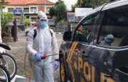 Cegah Covid-19, Sabhara Polres Bangli Sterilisasi Kendaraan dan Kantor