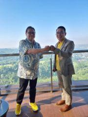 Airlangga-Emil Sarapan Pagi, Bahas Nama Jalan Eddy Sukardi