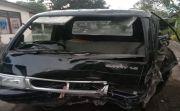 Mobil Pikap Mendadak Terbalik, Dua Ibu-Ibu Pedagang Sayur Luka-Luka