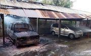 Heboh! Mobil Kijang Kotak di Gianyar Terbakar saat Diparkir