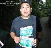 Ikut Banyuwangi Ijen Run, Pelari Ini Bawa Nomor Teman yang Meninggal