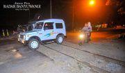 Hati-Hati Melewati Perlintasan Rel Berbatu di Kecamatan Giri
