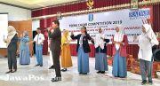 Siswa dan Guru SMK 17 Cluring Ikuti Latihan Derigen dan MC
