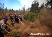 Polisi Turun Tangan Selidiki Pemicu Kebakaran Kawah Ijen
