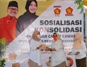 Sosialisasi dan Konsolidasi Pasangan Cabup-Cawabup Ipuk-Sugirah